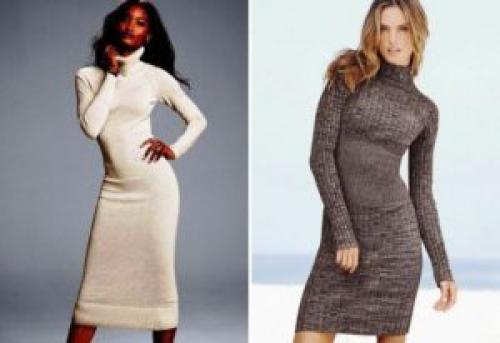 Длинное платье облегающее с чем носить. Правила комбинирования трикотажного платья с другой одеждой
