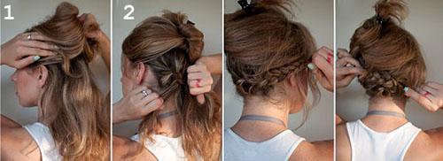 Прическа, как сделать из длинных волос короткие без стрижки. Превращаем длинные волосы в боб без стрижки (два способа, пошаговые фото)