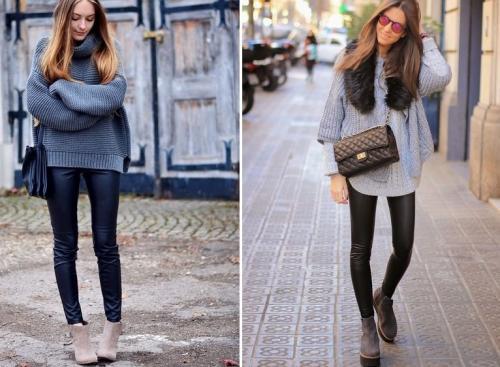 Легинсы с чем носить весной. С чем носить кожаные лосины? 20 стильных образов этой весны