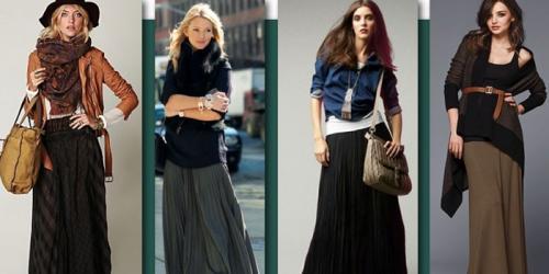 Юбка макси с чем носить. С чем носить юбку макси