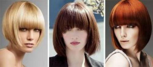 Стрижки на средние волосы с челкой. Модные прически с челкой на средние волосы 2019 фото