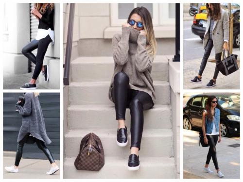 Легинсы с чем и как носить. Идеальная обувь