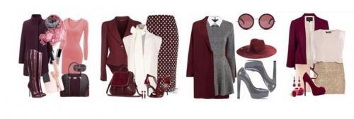Винный цвет сочетание с другими цветами в одежде. Как сочетать бордовый цвет в одежде?