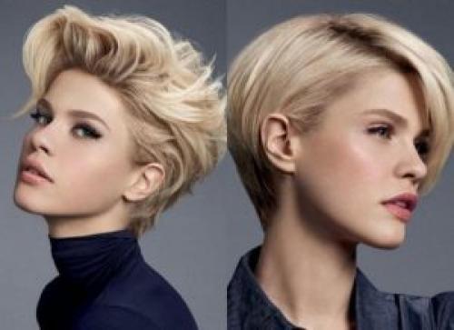 Прическа для блондинки на средние волосы. Стрижки на короткие волосы для блондинок