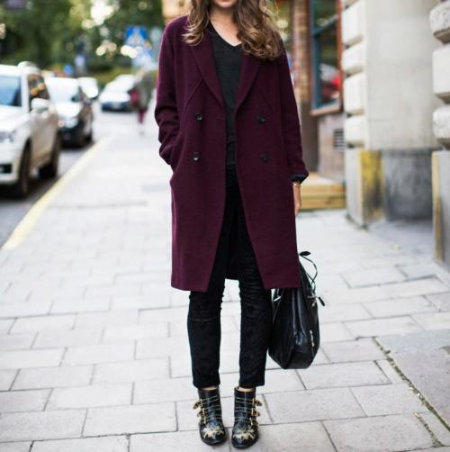 Пальто цвета марсала с чем носить. Кто может носить пальто?