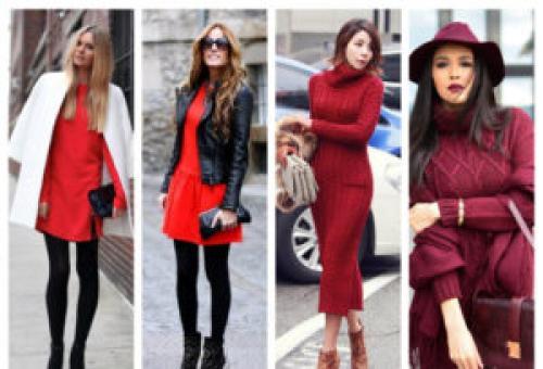 Как носить зимой длинные платья. С чем носить платья зимой