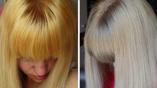 Как покрасить в блонд без желтизны. Окрашивание прядей в блонд — чистый цвет без желтизны