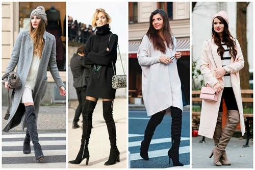 С чем носить бордовые ботфорты. Обзор стильных образов, с чем можно носить ботфорты и как правильно сочетать с одеждой