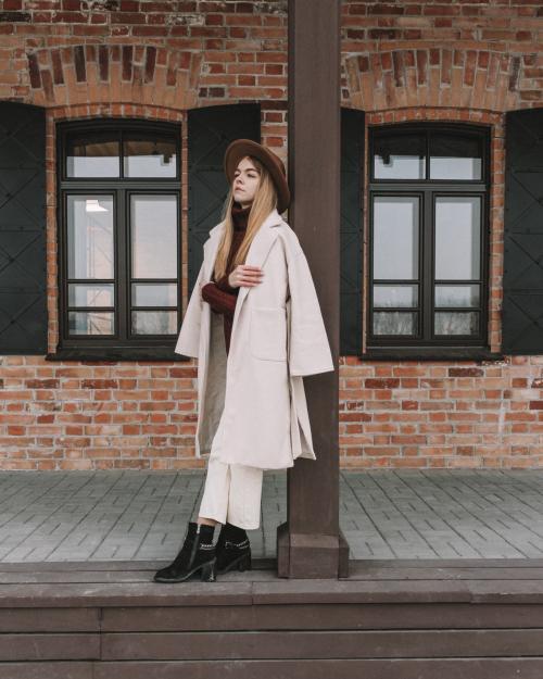 Обзор пальто с Алиэкспресс. Кремово-белое пальто с Алиэкспресс