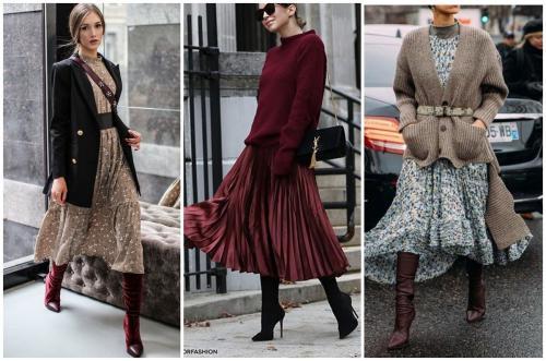 С чем носить длинное платье. 6 идей, с чем носить платье ниже колена этой осенью