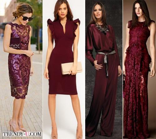Платье цвета марсала с чем носить. Платье цвета марсала: с чем носить?