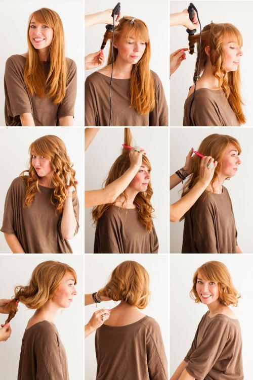 Как сделать из длинных волос видимость коротких. Короткие волосы без стрижки: узнай, как!