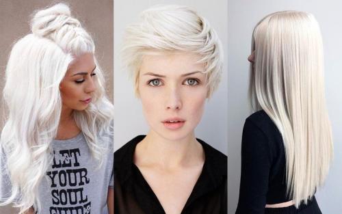 Блонд длинные волосы с челкой. 7 стильных причёсок для платиновых блондинок