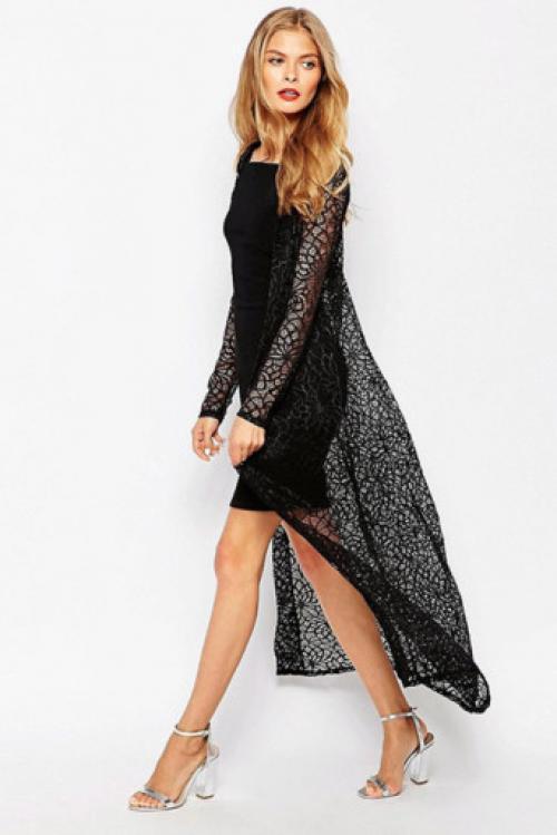 Длинное платье с кардиганом. Фасоны и модели