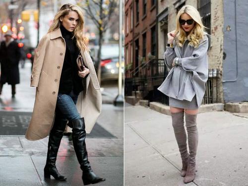 С чем носить ботфорты зимой 2019. С чем носить модные ботфорты весной 2019 года: стильные образы, красивые фото-идеи