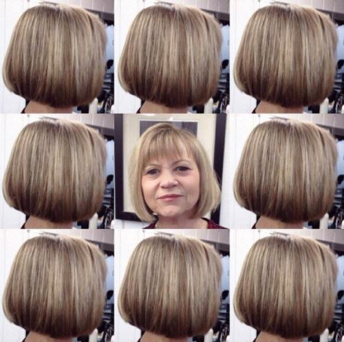 Стрижки для блондинок с круглым лицом. Описание и фото стрижек для круглого лица на волосы средней длины