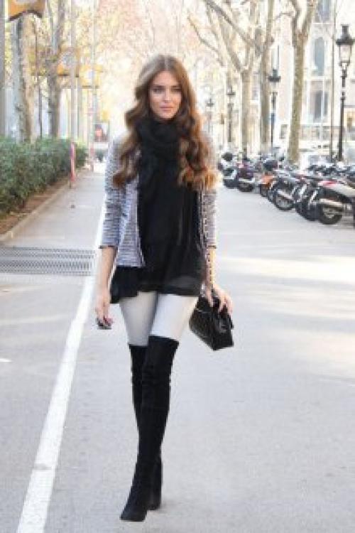 Бордовые ботфорты с чем носить. Общие рекомендации