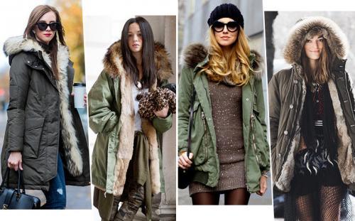 С какой обувью носить парку. Как носить парку и выглядеть женственно: 20 модных идей для зимы