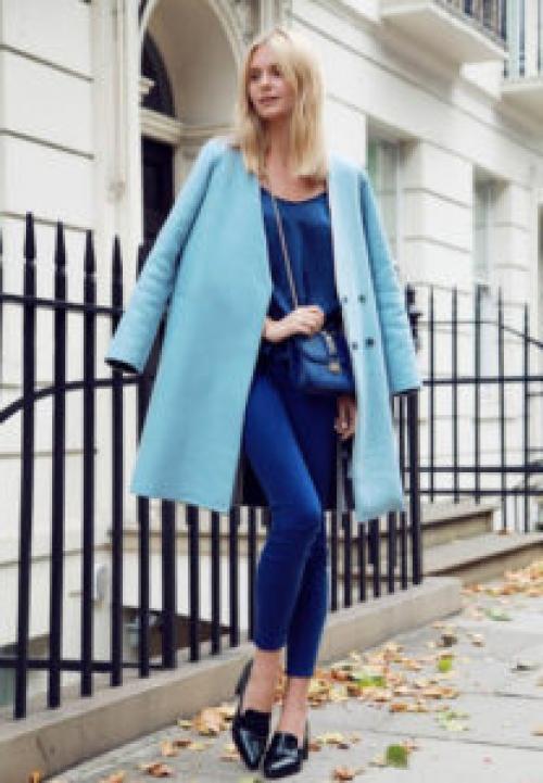 С чем носить синее стеганое пальто. Синее пальто: разнообразие оттенков
