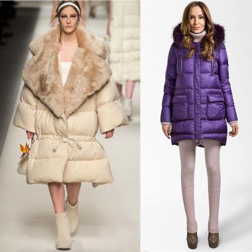 С чем носить куртку с высоким воротником. Выбираем пуховик кокон: удлиненный или длинный, с капюшоном или без?