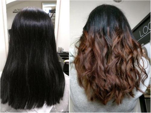 Как в домашних условиях смыть краску для волос. Как смыть черную краску с волос в салоне красоты и стоимость процедуры 03